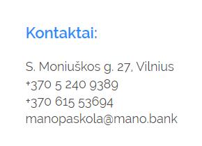 Manopaskola kontaktai