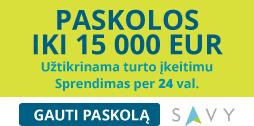 Savy paskolos iki 35.000 eur
