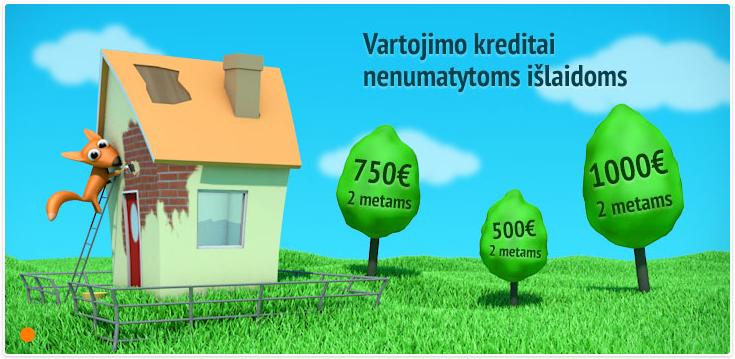 Pirmas kreditas iki 1000 € nemokamai