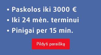 Credit24 paskolos iki 3000€ per 15 min.