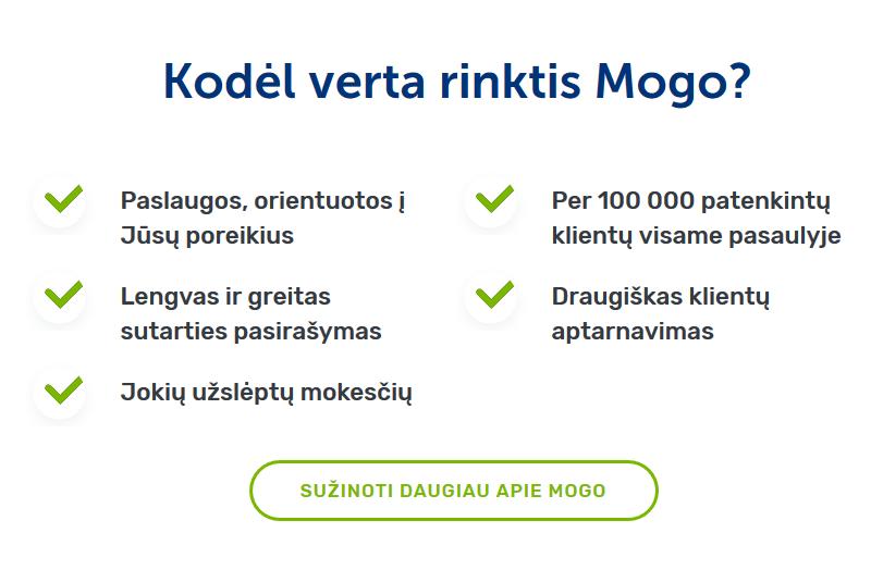 Kodėl verta rinktis Mogo?