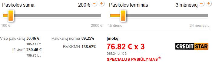 Specialus pasiūlymas Creditstar